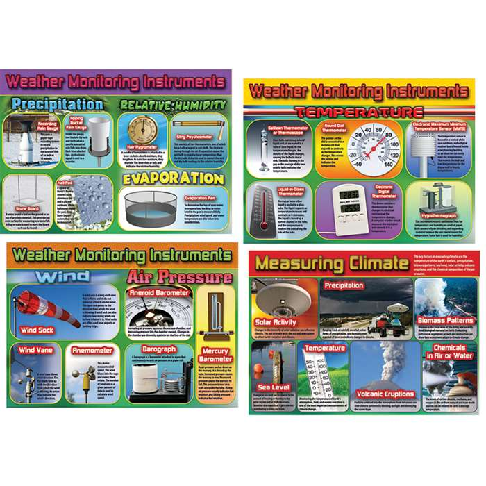 Weather & Climate Monitoring Instruments Bulletin Board Set By Carson Dellosa