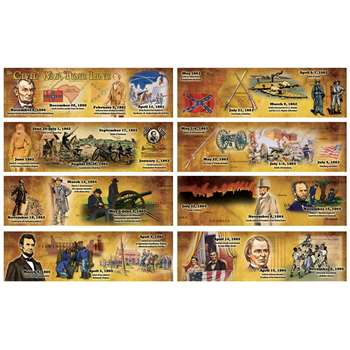 The Civil War Time Line Mini Bulletin Board Set By Carson Dellosa