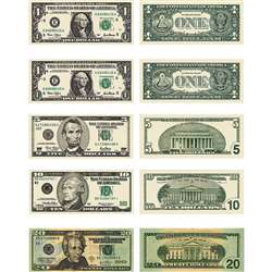 Money U.S. Bills Stickers By Carson Dellosa