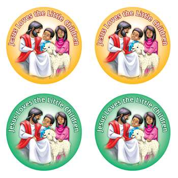 Jesus Loves The Little Children Stickers By Carson Dellosa