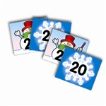 Two-Sided Calendar Cover-Ups Snowflake/Snowman By Carson Dellosa