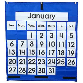 Pocket Chart Monthly Calendar 25 X 28 By Carson Dellosa