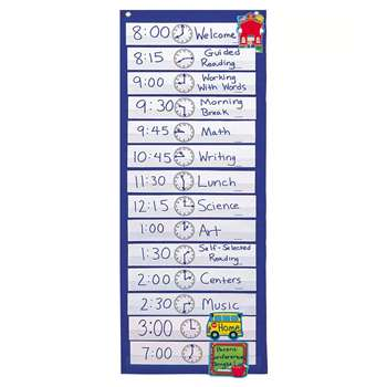 Pocket Chart Scheduling 12-1/2 X 33 By Carson Dellosa