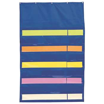 Pocket Chart Original Plus Blue 34 X 52 By Carson Dellosa