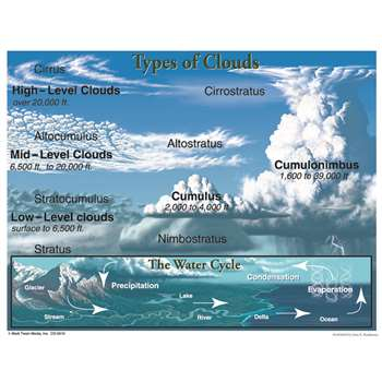 Types Of Clouds Chartlet By Carson Dellosa