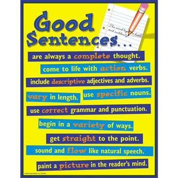 Chartlet Good Sentences By Carson Dellosa