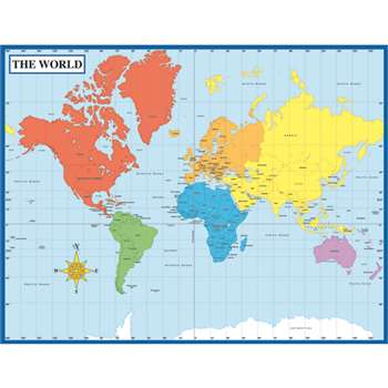 Chartlet Map Of The World 17 X 22 By Carson Dellosa