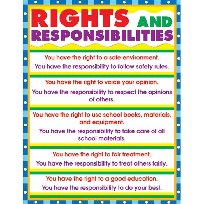 Chartlet Rights & Responsibilities 17 X 22 By Carson Dellosa