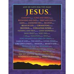 Chartlet Names Of Jesus 17X22 By Carson Dellosa