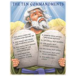 Chartlet The Ten Commandments 17 X 22 By Carson Dellosa