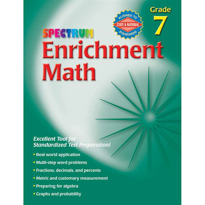 Spectrum Enrichment Math Workbook Gr 7 By Carson Dellosa