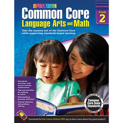 Shop Gr 2 Common Core Language Arts & Math Book - Cd-704502 By Carson Dellosa