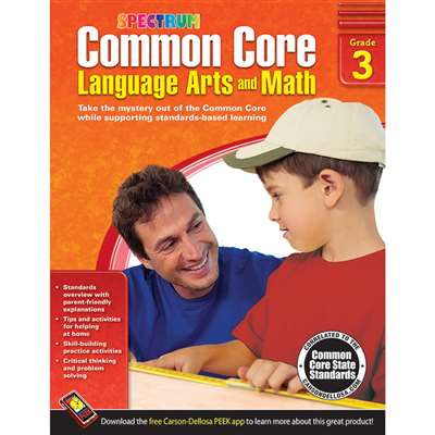 Shop Gr 3 Common Core Language Arts & Math Book - Cd-704503 By Carson Dellosa