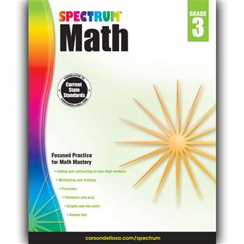 Spectrum Math Gr 3, CD-704563