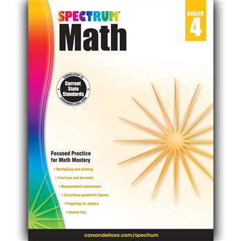 Spectrum Math Gr 4, CD-704564