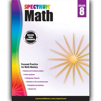 Spectrum Math Gr 8, CD-704568
