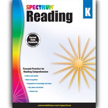 Spectrum Reading Gr K, CD-704578