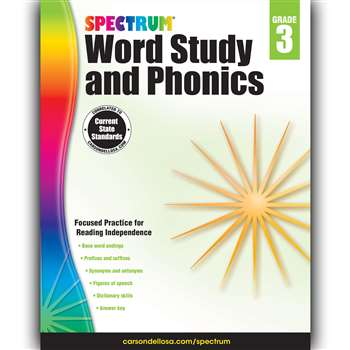 Spectrum Gr 3 Word Study And Phonics, CD-704606