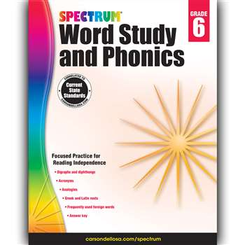 Spectrum Gr 6 Word Study And Phonics, CD-704609