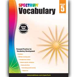 Spectrum Vocabulary Gr 5, CD-704612
