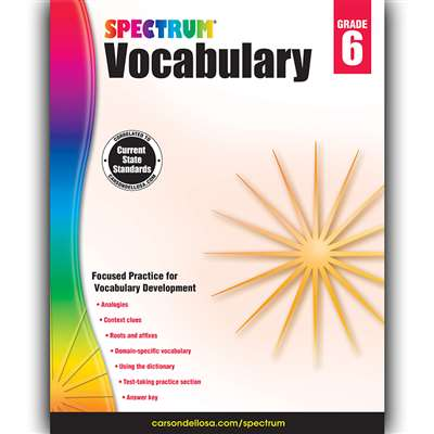 Spectrum Vocabulary Gr 6, CD-704613