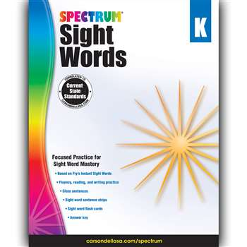 Spectrum Sight Words Gr K, CD-704614