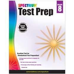 Spectrum Test Prep Gr 8, CD-704690