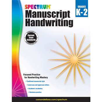 Spectrum Manuscript Handwriting Gr K-2, CD-704691