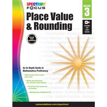 Spectrum Place Value & Rounding Gr 3, CD-704901