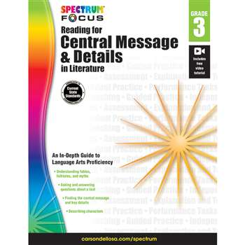 "Spectrum Reading Central Message & Details "" Lite, CD-704902"