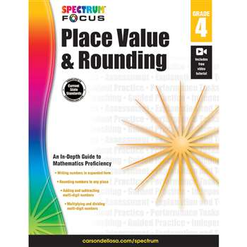 Spectrum Place Value & Rounding Gr 4, CD-704905