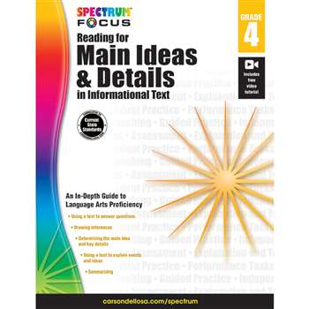"Spectrum Reading For Main Ideas & Details "" Infor, CD-704907"