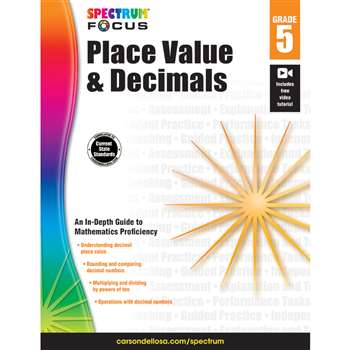 Spectrum Place Value & Decimals Gr 5, CD-704909