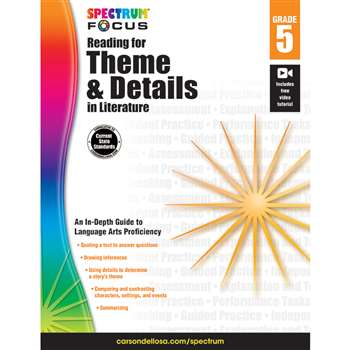 "Spectrum Reading Theme & Details "" Literature Gr , CD-704910"