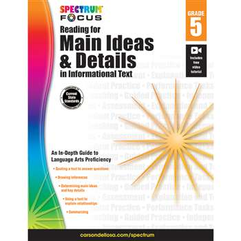 "Spectrum Reading For Main Ideas & Details "" Infor, CD-704911"