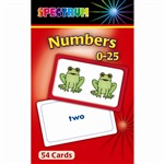 Spectrum Flash Cards Numbers 0-25 Gr Pk-1 By Carson Dellosa