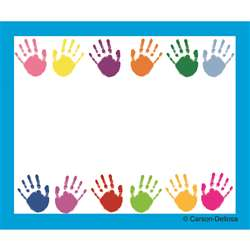 Handprints Name Tags Self-Adhesive 40 Ct By Carson Dellosa