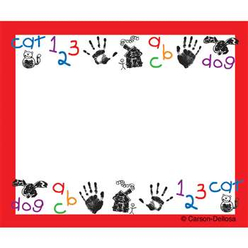 Kid-Drawn Art Name Tags Self-Adhesive 40 St By Carson Dellosa