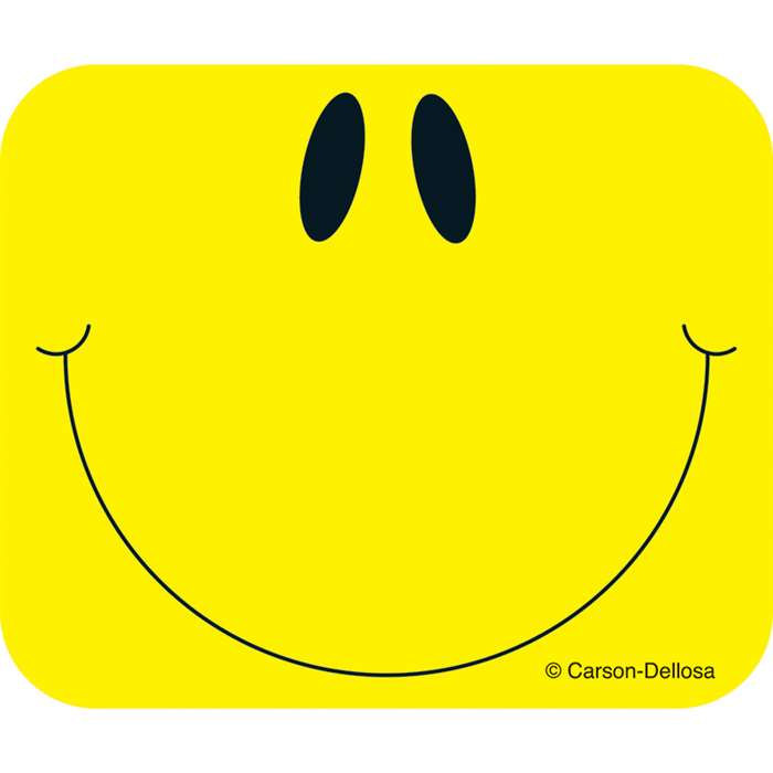 Name Tags Smiley Face Yellow 40/Pk Self-Adhesive By Carson Dellosa