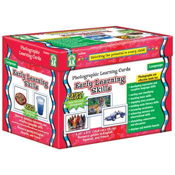 Early Learning Skills Photo Learning Cards Set By Carson Dellosa