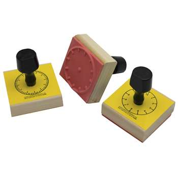 Stamp Set 3 Clock 5-Min/60-Min/Hour Numerals By Center Enterprises