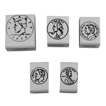 Stamp Set Coins Heads 5/Pk By Center Enterprises