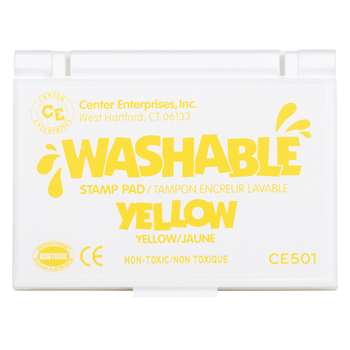 Stamp Pad Washable Yellow By Center Enterprises