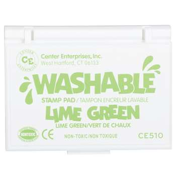 Stamp Pad Washable Lime Green By Center Enterprises