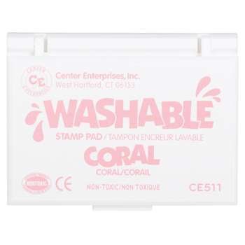 Stamp Pad Washable Coral By Center Enterprises