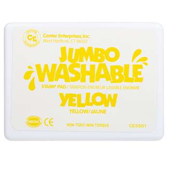 Jumbo Stamp Pad Yellow Washable By Center Enterprises
