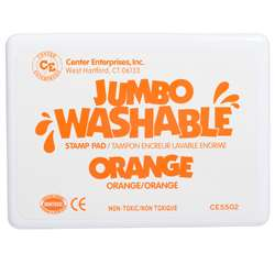 Jumbo Stamp Pad Orange Washable By Center Enterprises