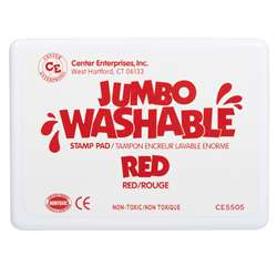 Jumbo Stamp Pad Red Washable By Center Enterprises