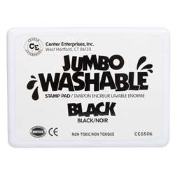 Jumbo Stamp Pad Black Washable By Center Enterprises