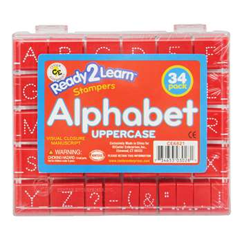 Visual Closure 1 Upper Manuscript Set Alphabet Stamps By Center Enterprises